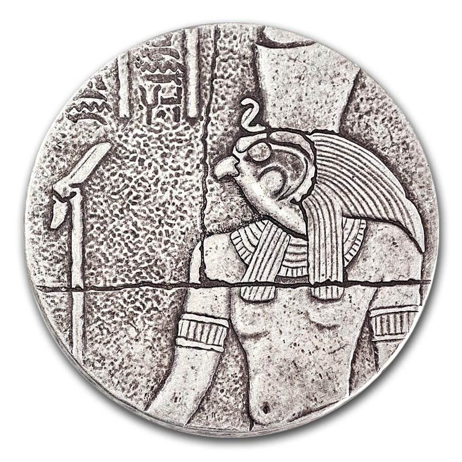 2 Oz Republic Of Chad Horus Silver Coin 2016 Mad