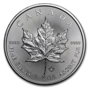 Canadian Maple Leaf 1 oz Silver Coins