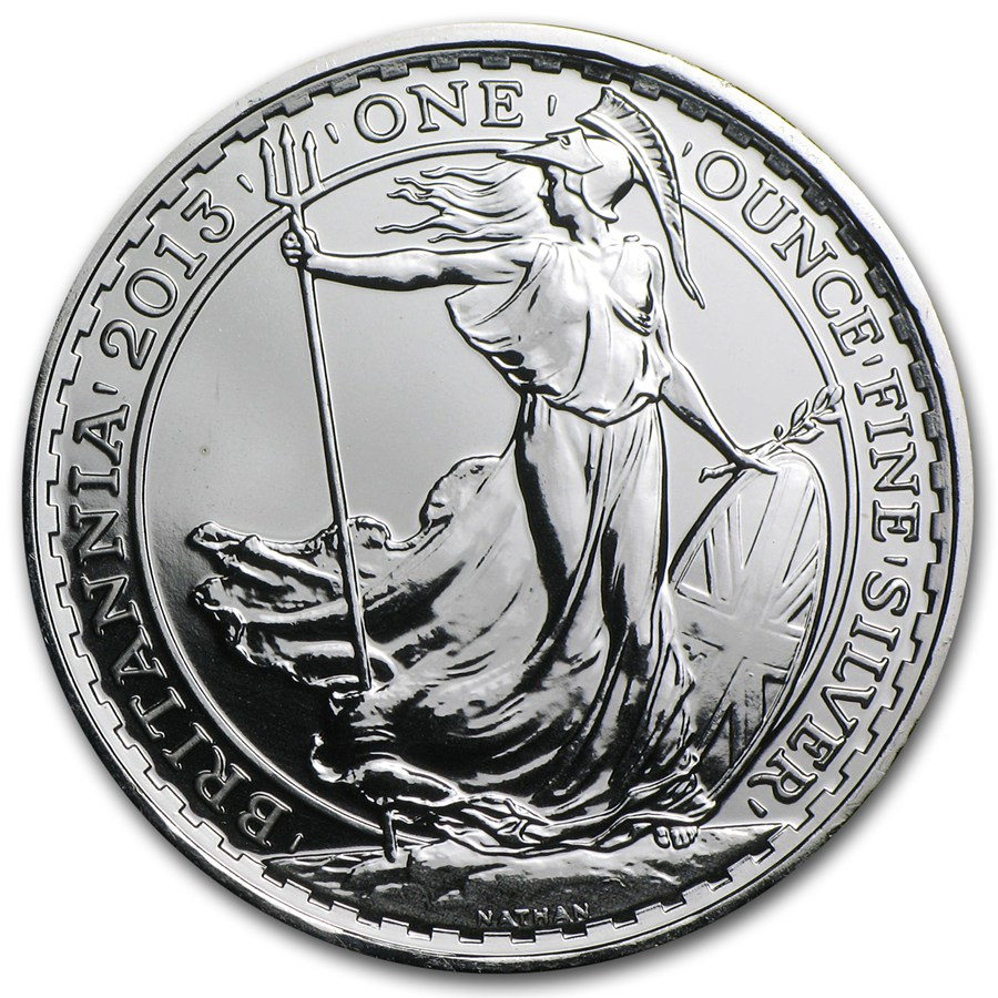 2013 1 Oz Silver Britannia With Year Of The Snake Privy