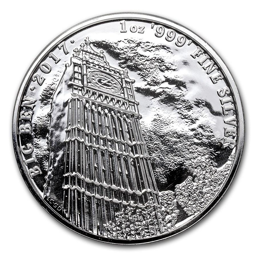 1oz Silver Big Ben Great Britain Landmarks Of Britain